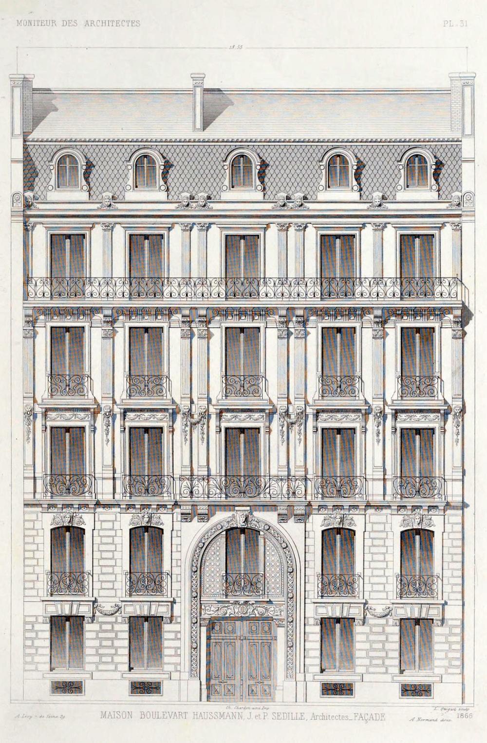 A typical Haussmannian building