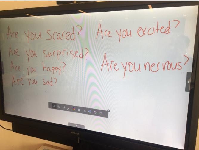 Kindergarten feelings questions about my journey.