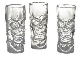 Clear Skull Shot Glassses