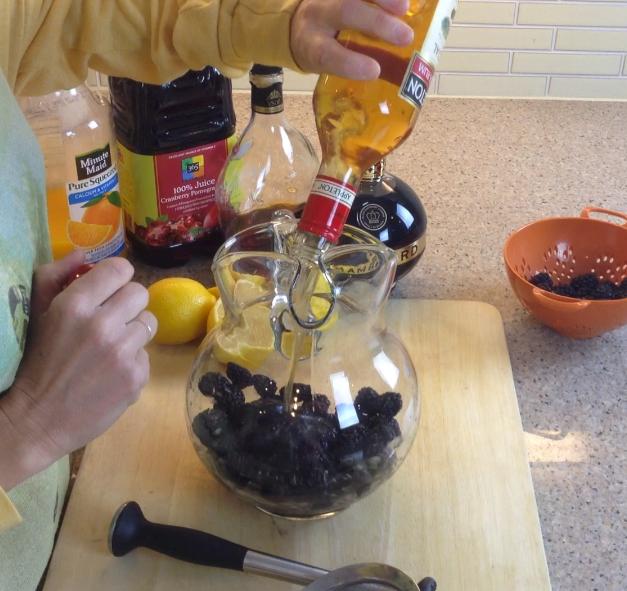 Spiced Rum Blackberries