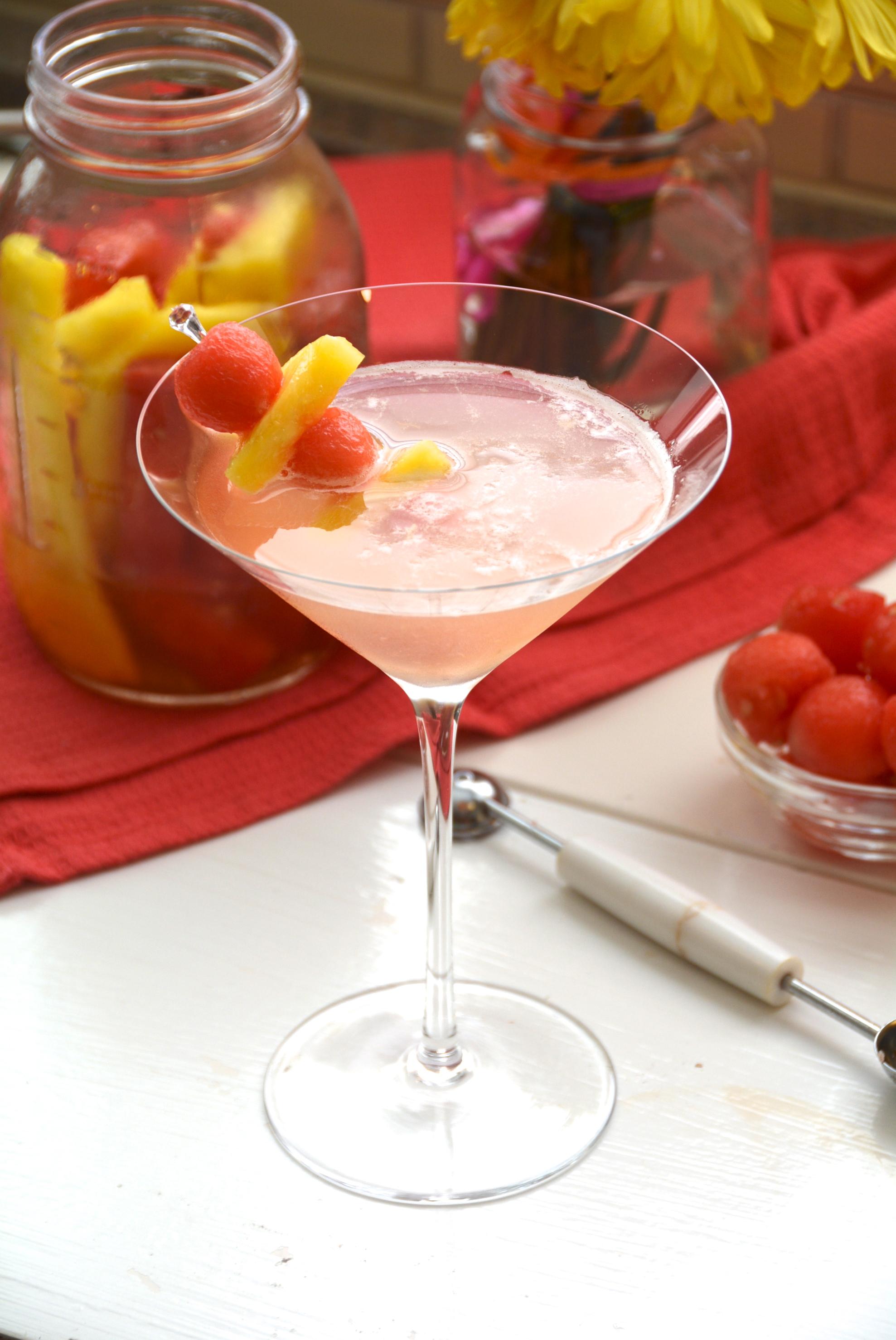 Pineapple Watermelon Martini