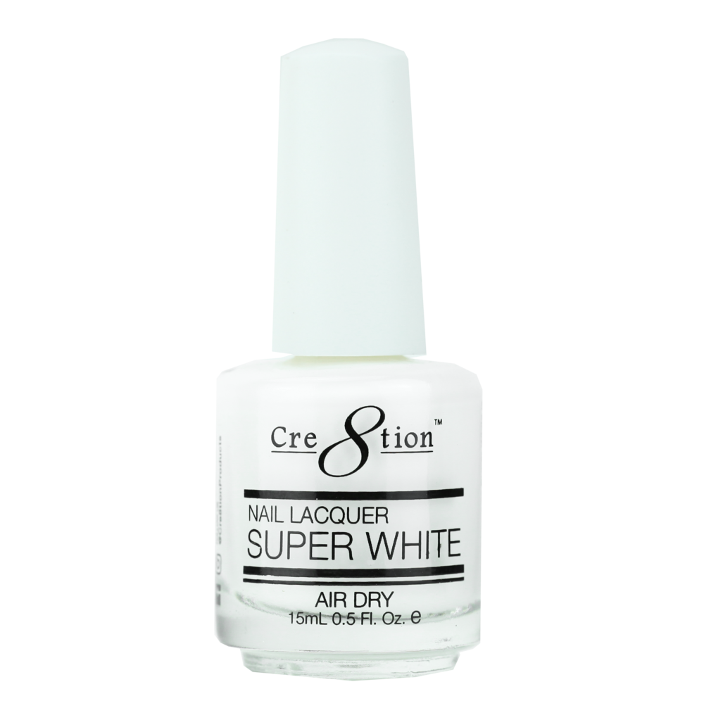Cre8tion Nail Lacquer - Super White (Item 14001)