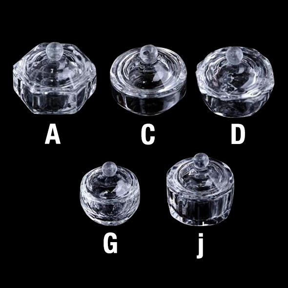 Empty Glass Crystal Jar Small Size 4-5 cm 26177 - A, 26178 - C, 26179 - D, 26180 - G, 26191 - I, 26181 - J  400 pcs/case