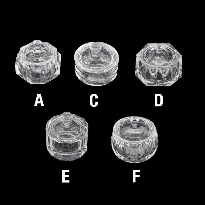 Empty Glass Crystal Jar Large Size 7-8 cm 26182 - A, 26183 - C, 26184 - D, 26185 - E, 26186 - F  100 pcs/case
