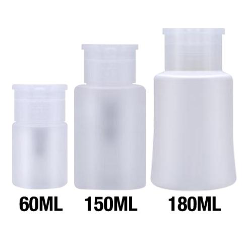 26188 - Empty Liquid Dispenser Bottle 60 ml,  300 pcs/case  26189  -  Empty Liquid Dispenser Bottle 150 ml,  200 pcs/case  26190 - Empty Liquid Dispenser Bottle 180 ml,  200 pcs/case
