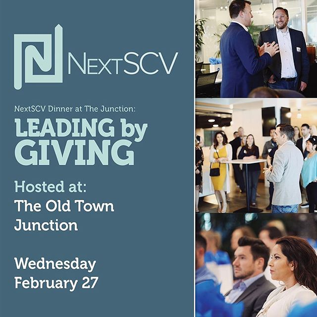 We heard how much everyone enjoyed last year's NextSCV dinner at The Junction. So we're back, this time with an evening focused on how the best business leaders also give back to their communities. If you haven't received an invitation and are interested in attending this exclusive event just reach out to us at hello@nextscv.com #santaclarita #youngprofessionals #oldtownjunction