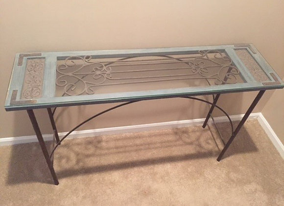 Glass Rod Iron Table, $25