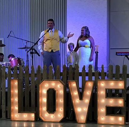 Giant LOVE Marquee Letters, $50