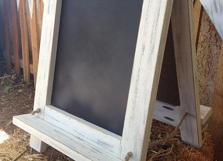 Tabletop Chalkboards, $3