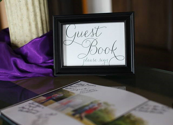 Guest Book Sign, $3
