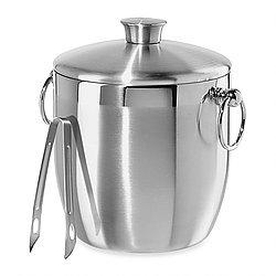 Silver Ice Bucket, Lid & Tongs, $5