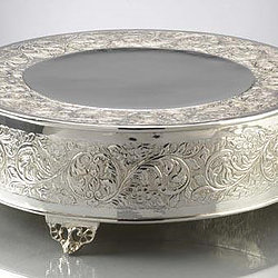 Silver Cake Stand, $7