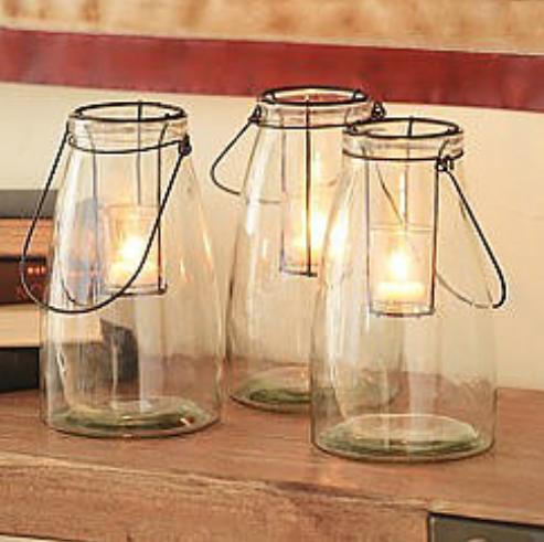 Glass Lanterns, $3