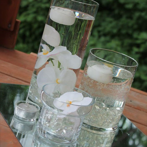 Glass Tiered Cylinder Sets, $7