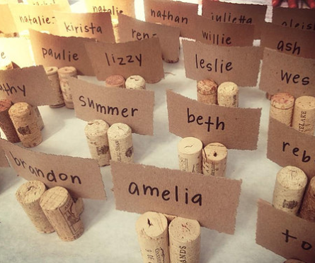 Wine Cork Placecard Holders, 25 cents