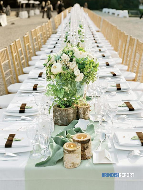 White Oblong Table Linens, $10.00