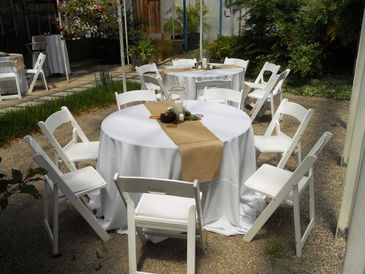 White Round Table Linens, $12.00