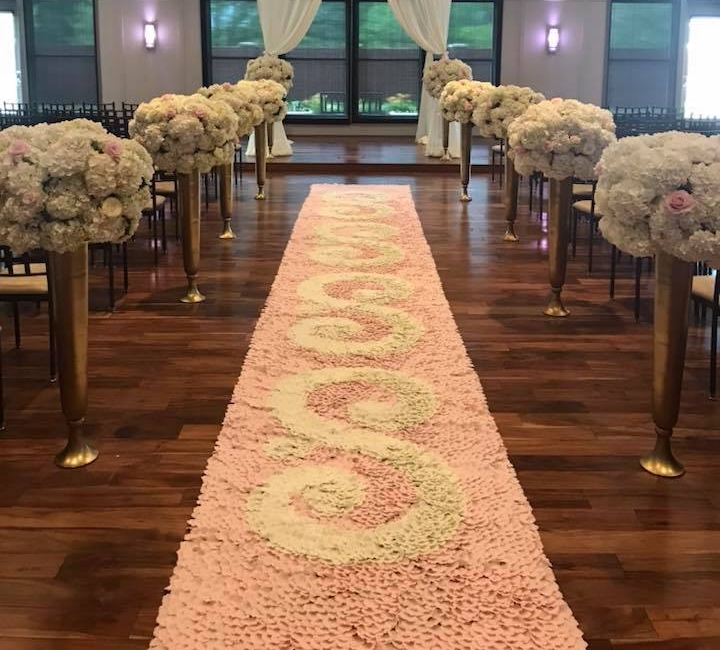Rose Petal Aisle Runner, $35