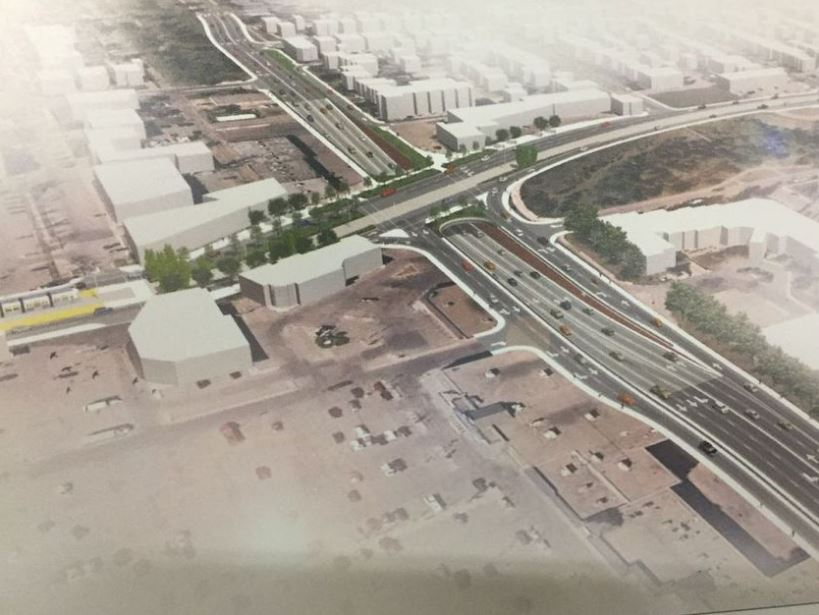 Rendering of Stony Plain Road-149 Street underpass, facing northeast. Shown at west-end Valley Line LRT open house on Wednesday, Jan. 24, 2018.