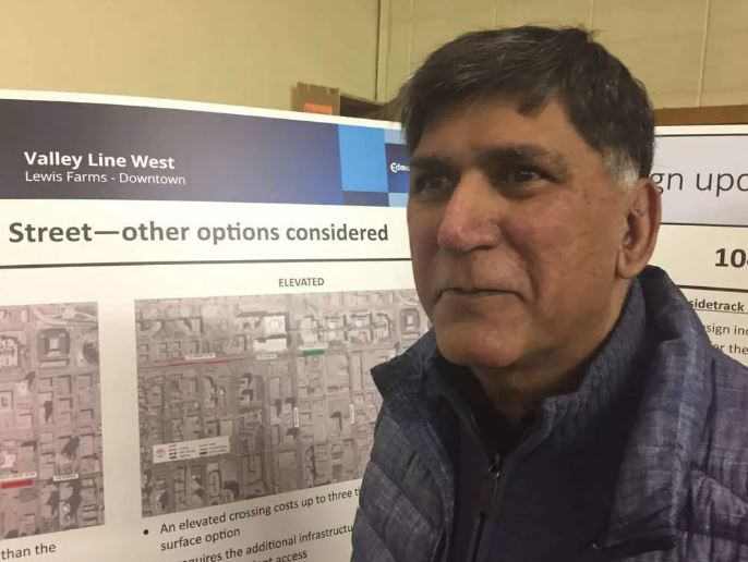 Salim Keshwani said the intersection of 104 Avenue and 109 Street is already congested.