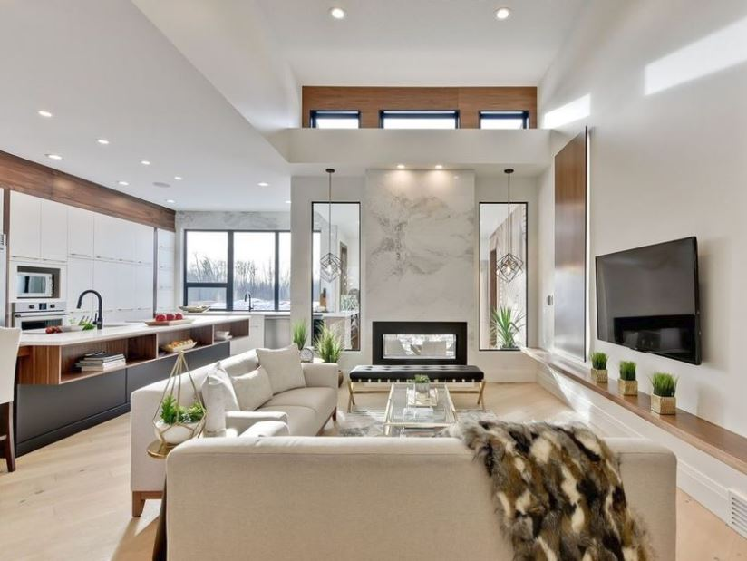 Veneto Custom Homes crafted a galley-style kitchen and open-concept living area on the 1,681-square-foot main floor for its Big Brothers Big Sisters Lottery dream home.