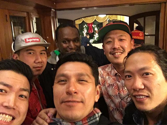 #tbt to the Holliday's @szeetoo legendary holiday party with @yellowkidjl @eugenesb
