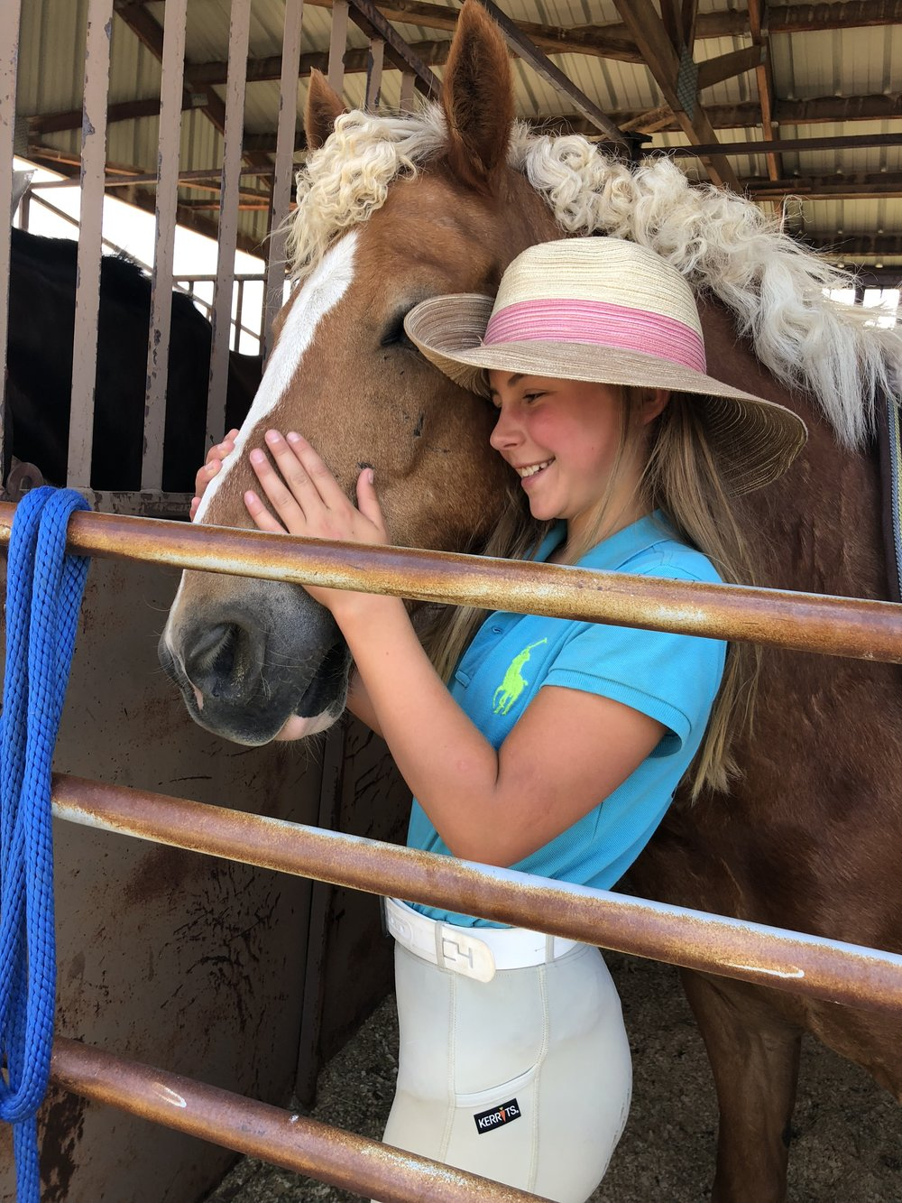 A girl and her horse. - True love.