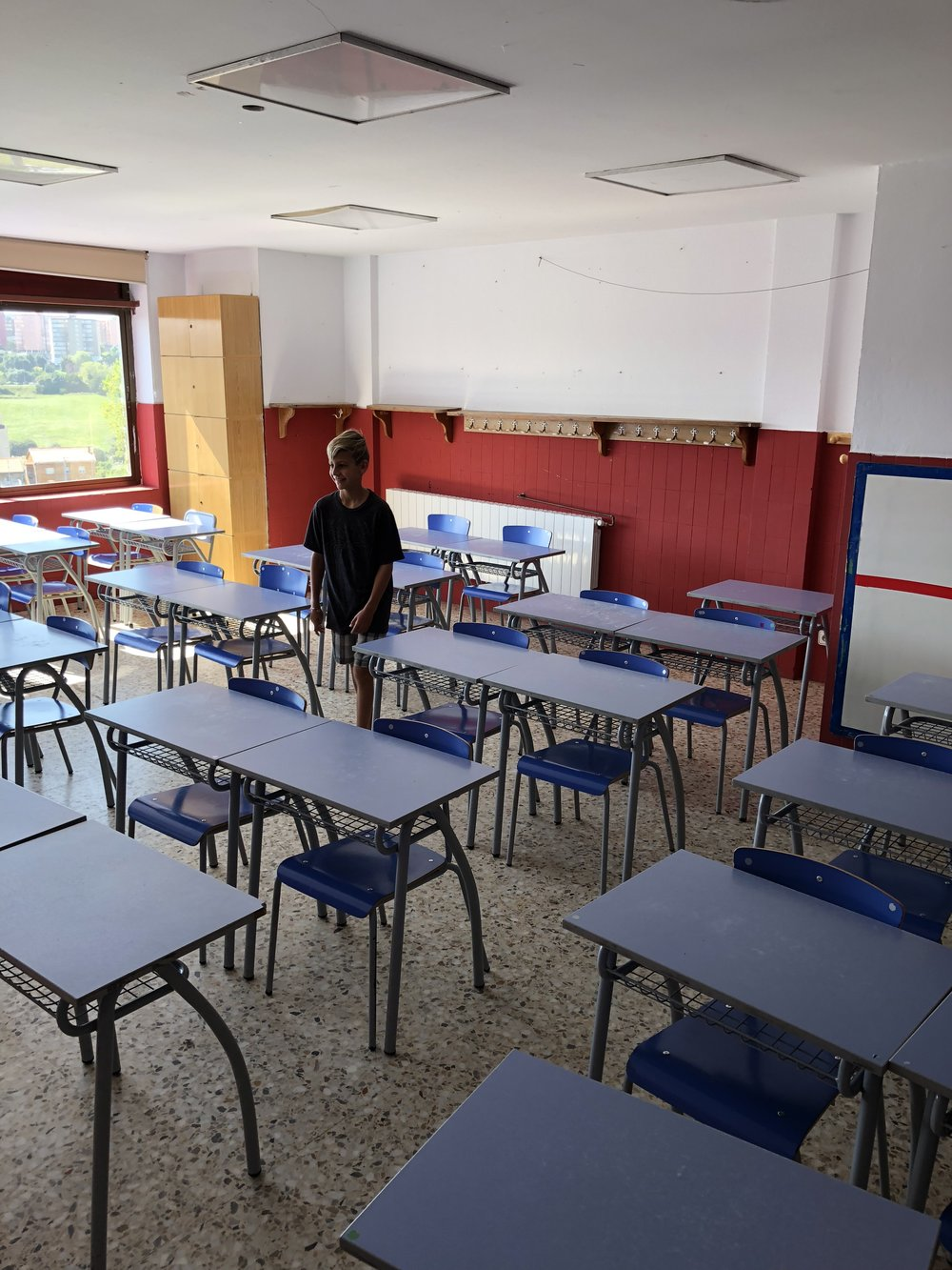 Before school started - This is Spider's classroom