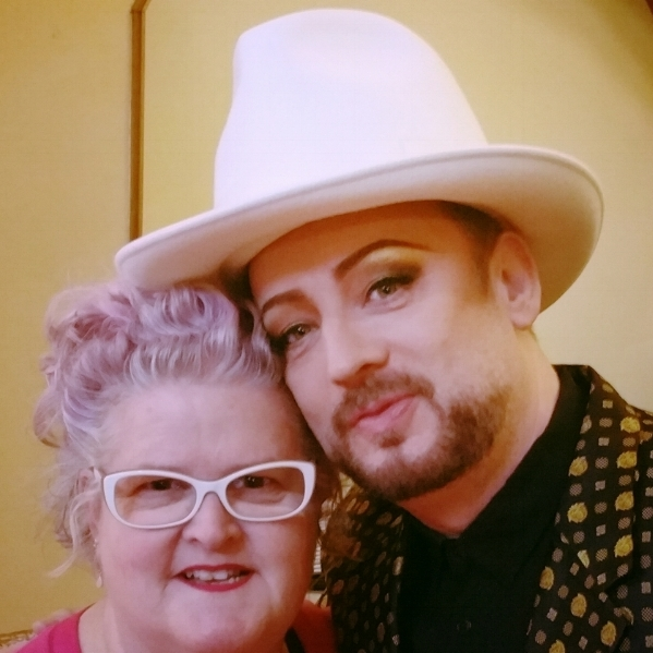 Julie Fleming meets Boy George, 2016