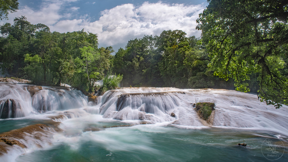 we could have really used the drone to show you the scope of Agua Azul