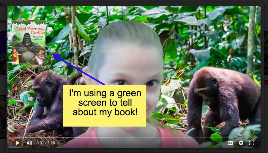 Book Retell During Daily 5 - Students stood in front of the class green screen and retold a book they were reading with the background becoming the setting of their book!