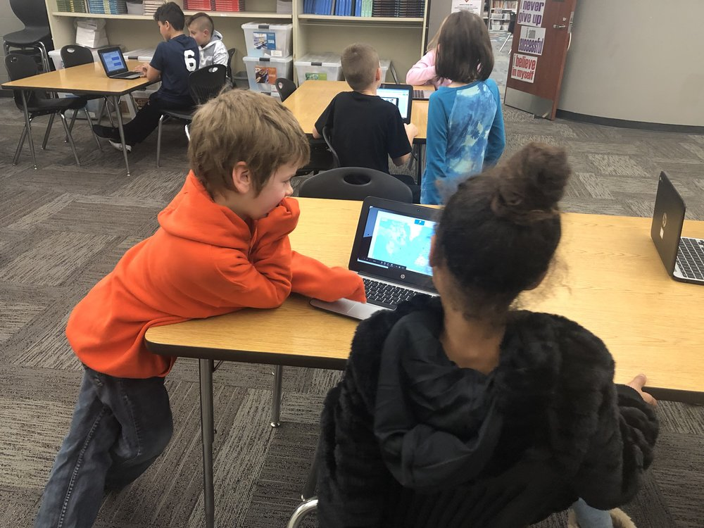 Students Use Google My Maps in Their Explorers Social Media Project - They used Google My Maps to plot points that the explorer visited or places that were important to that explorer's journey.