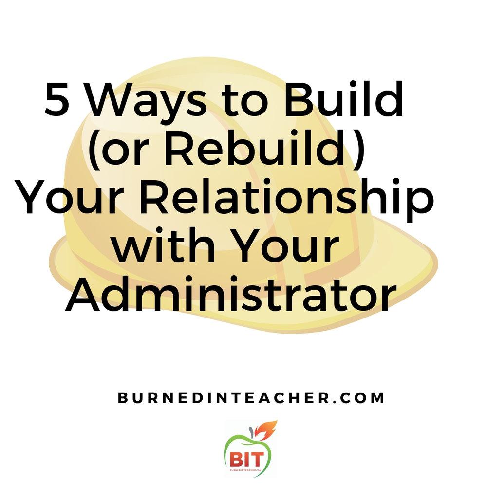 administrator teacher relationship