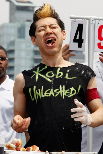 (Mayor) Takeru Kobayashi Challenges 2011 Nathan's Famous Hot Dog Eating Competition Contestants Via Satellite
