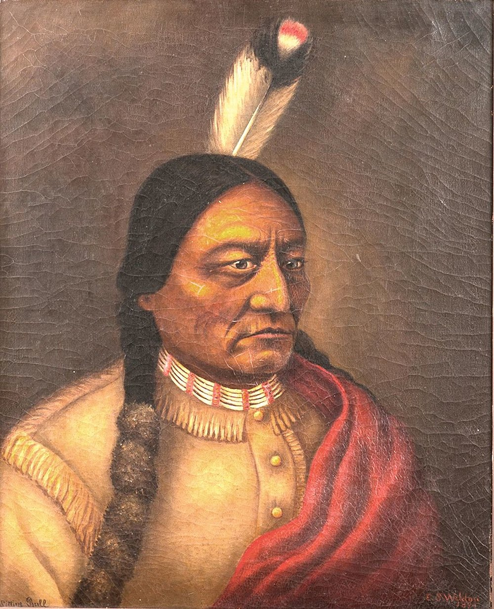 Sitting Bull, by Caroline Weldon, 1890, oil on canvas