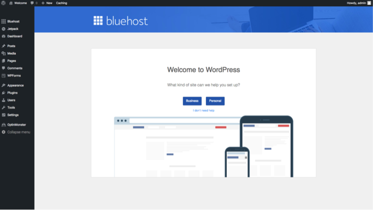 Welcome to Wordpress Bluehost.png