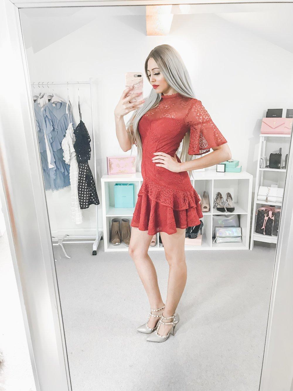 AMUR  RED MILA DRESS