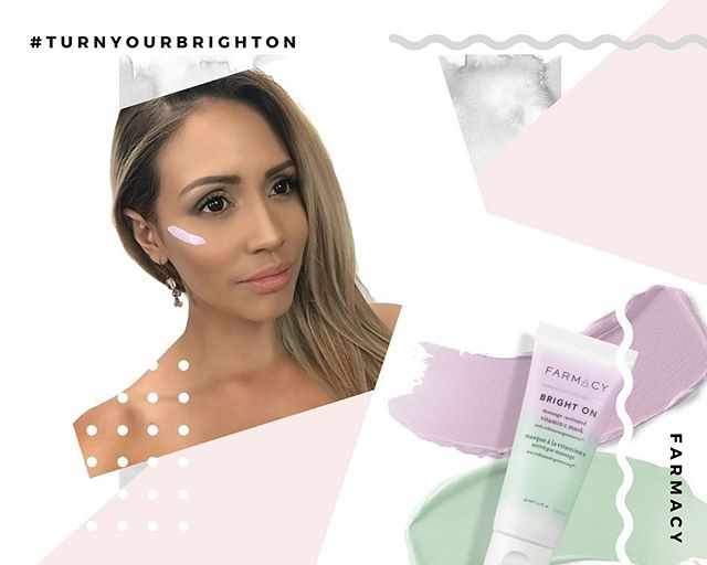 @farmacybeauty has launched an exciting product that I could not wait to get my hands on! This brand represents everything I like, which is why it's my go-to skin care brand! • The bright on vitamin C mask goes on purple and turns green! It's such a nice smelling mask too and clears your face from any impurities. • Free of parabens, artificial dyes, and never tested on animals, @farmacybeauty never lets me down! • #gifted #ipracticallybegged #ilovethisstuff #farmacyforlife #turnyourbrighton #farmacyxbrandbacker
