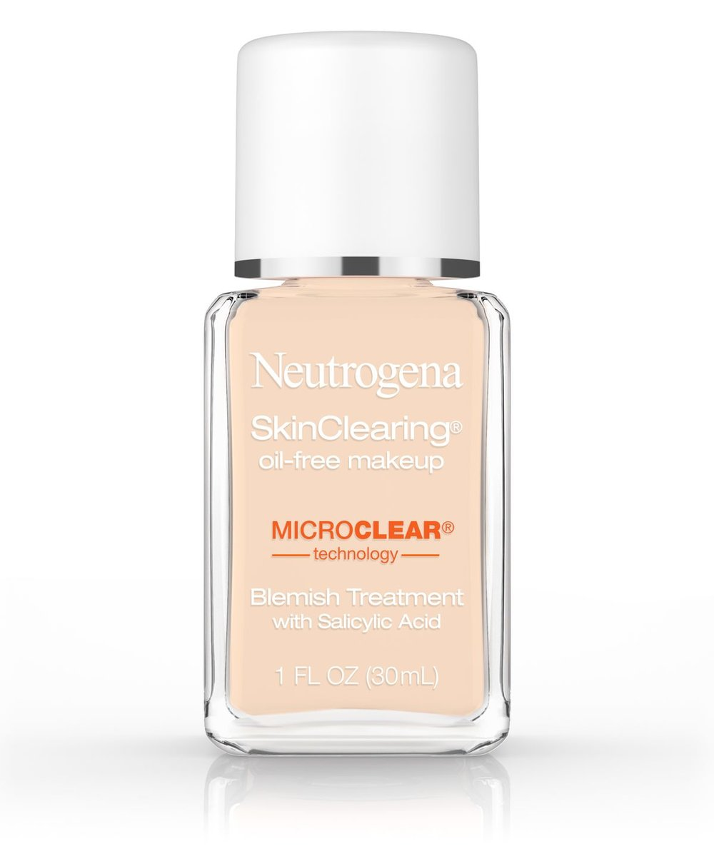 Neutrogena SkinClearing® Oil-Free Makeup - Flawless coverage + clinically-proven acne-fighting medicine