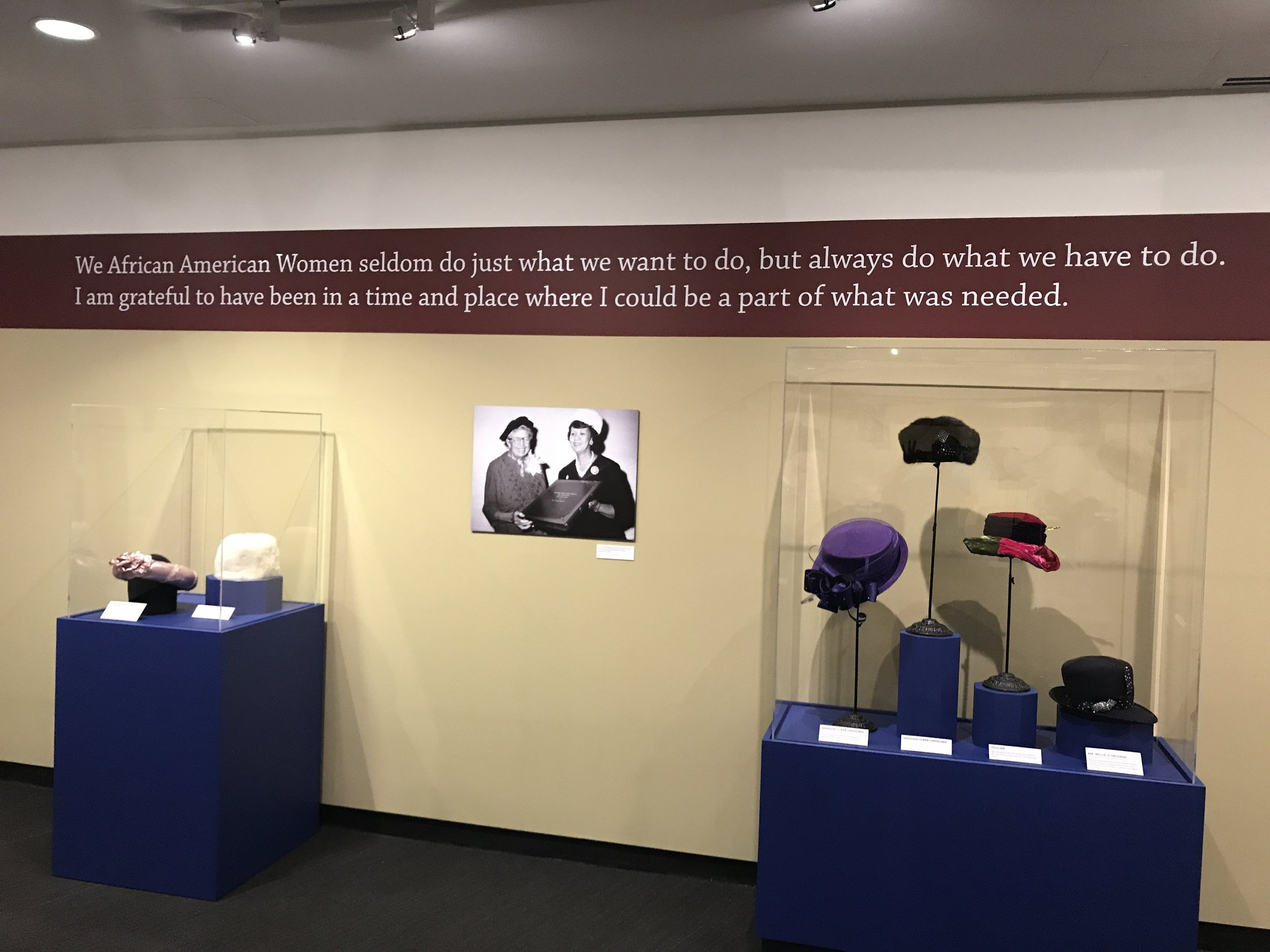 Quote from exhibit Dorothy Height's Hats at MOFA St. Petersburg