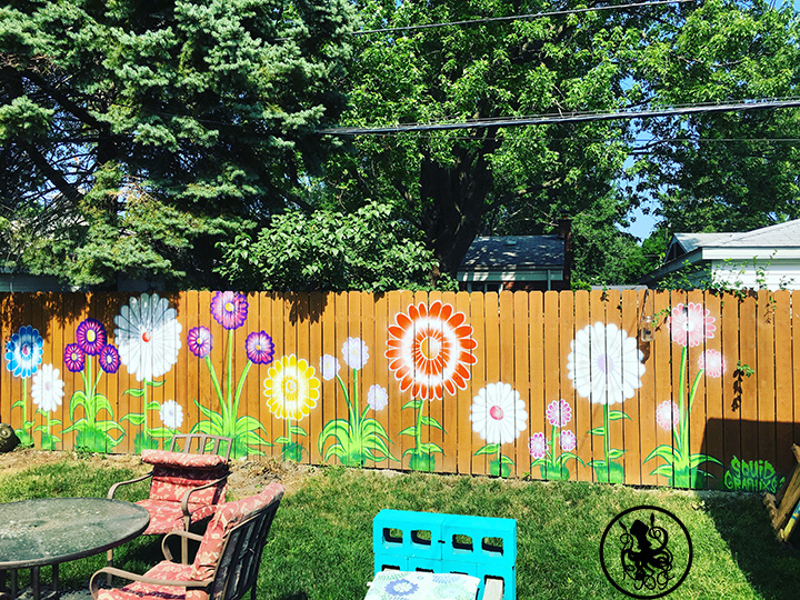FLOWER FENCE - JUNE 30 2018 30FT X 7FT