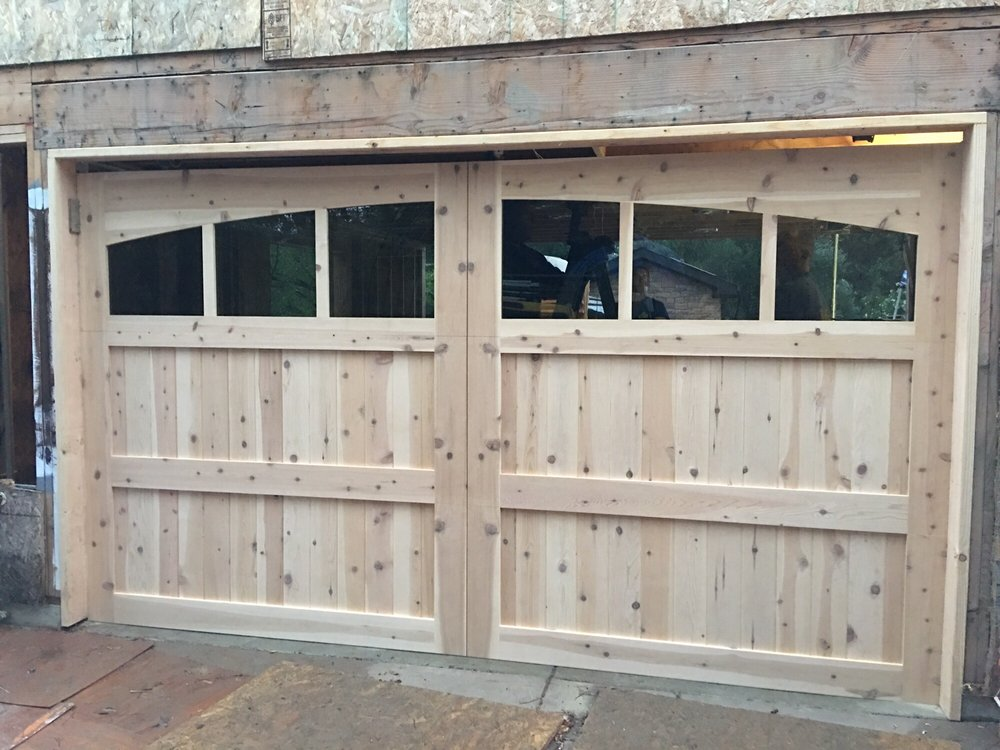 Stain Grade Carriage House - Red Western Cedar (before professional staining)