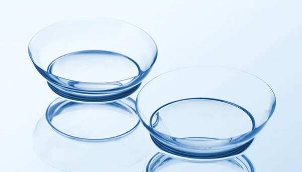 Above:  a pair of  Scleral Contact Lenses . Scleral lenses offer sharp vision and comfort for dry eyes, irregular corneas or hard-to-fit eyes. They are also helpful for  keratoconus .