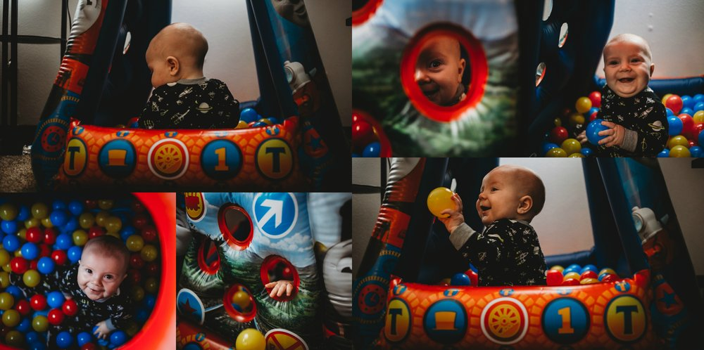 Finn's First Christmas Ball Pit 2017 Made Beloved Photography Cedar Falls Iowa