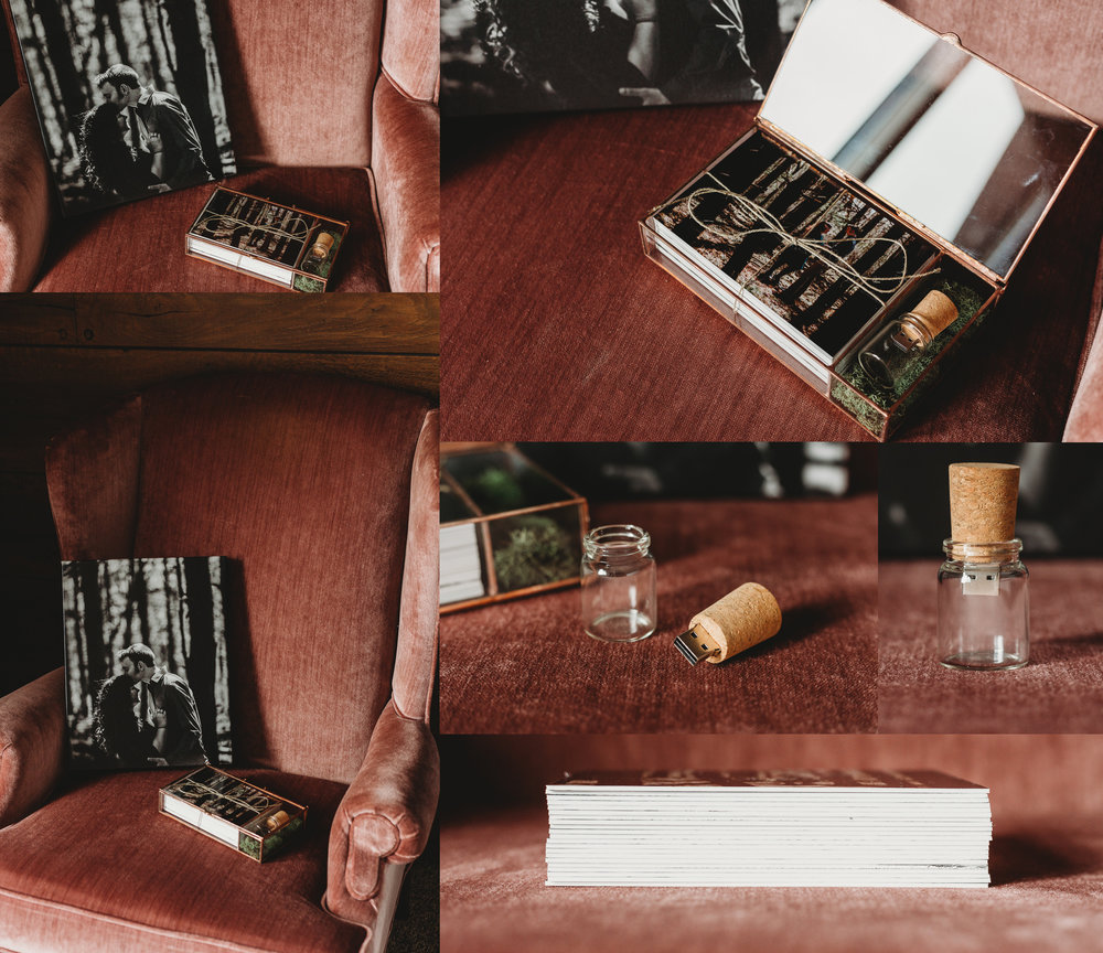 CANVAS AND HEIRLOOM BOX MOUNTED PRINTS CORK BOTTLE USB