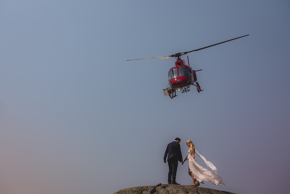 Whistler Helicopter Wedding Elopement - photo by Logan Swayze