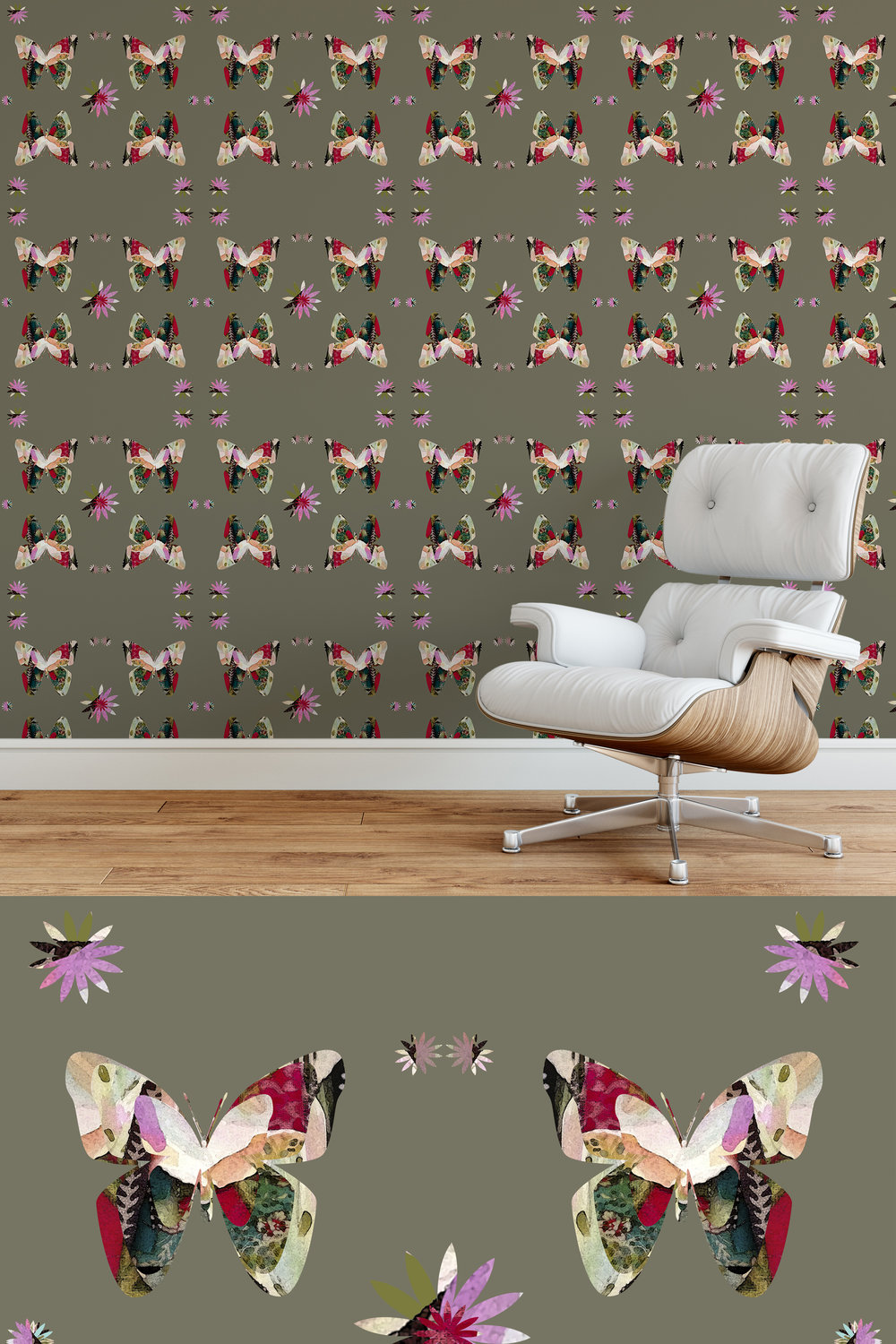 Mary Wadsworth  - Butterfly Oh Butterfly Taupe