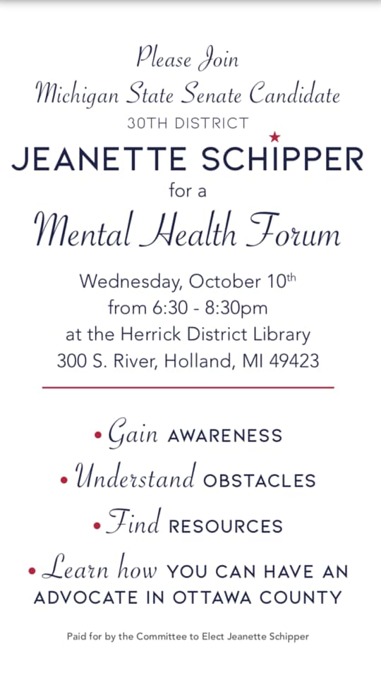 Mental Health Forum: Schipper