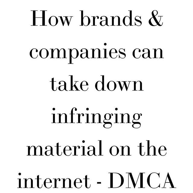 What can brands do when they discover their copyrights are being used on the internet without their permission? The Digital Millennium Copyright Act provides a relatively easy and streamline process for copyright owners to report potentially infringing material on the internet. If your company owns many copyrights, enforcing them is critical to maintain your rights and your brand's reputation. Read more about how the DMCA works and how to protect your company's IP w/ link in bio 👏🏼©️☑️ #luxury #nyfw #copyright #dressfromthefeetup #fashionweek #runway #publication #ecofriendlyfashion #fashiontrends #fashionrevolution #trademark #tradedress #wearyourvalues #fashionlawyer #fashion #infringement #qualityoverquantity #intellectualproperty #law #lawyer #iplaw #newyork #fashionlaw #nyc #businessoffashion #dmca #protectyourip #fashionlaw