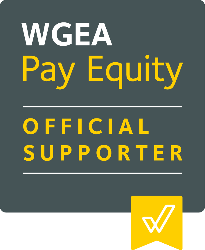 We are proud supporters of the Workplace Gender Equality Agency for Pay Equity -